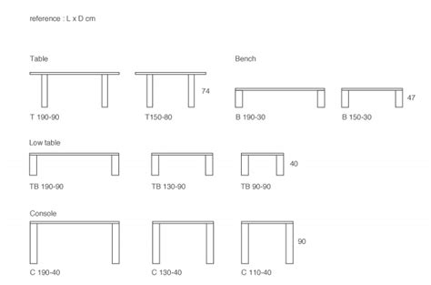 Furniture Standard Dimensions In Cm by Heeley Design
