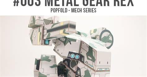 Metal Gear Rex Papercraft - popfold metal gear rex papercraft papercraft paradise