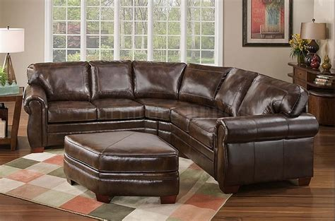 Leather Sectional And Ottoman by Leather Sectional Sofa With Classic Style Plushemisphere