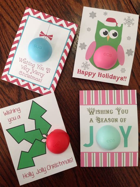 printable eos christmas cards holiday christmas cards gift tags for eos lip balm