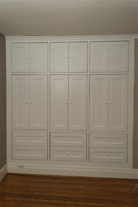 cabinets for bedroom closets high park two built in closets traditional bedroom