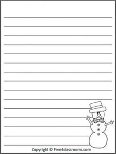 printable january writing paper free snowman winter writing template with print practice