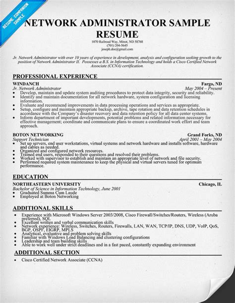Network Administrator Resume Template click here to this network administrator resume template httpwww 3 chic network admin