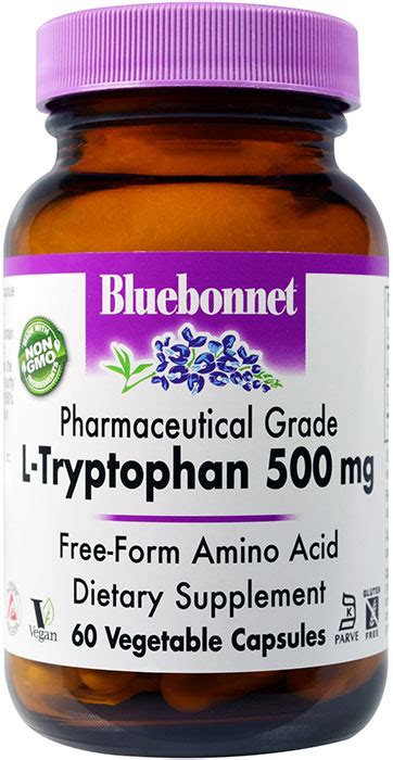 l tryptophan vegetables bluebonnet l tryptophan 500 mg 60 vegetable capsules