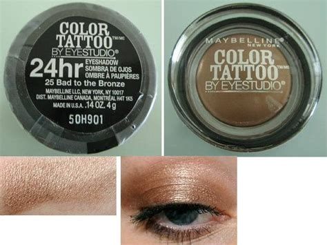 true colour tattoo york prices maybelline color tattoo bad to the bronze on and on