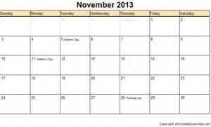 november 2013 calendar printable www imgkid com the
