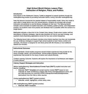 ktip lesson plan template sle lesson plan template for high school high school
