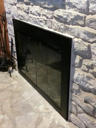 glass fireplace doors home depot 1000 ideas about fireplace doors on painting