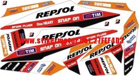 Sticker Striping Motor Honda Revo 2 cutting sticker modifikasi motor striping moto