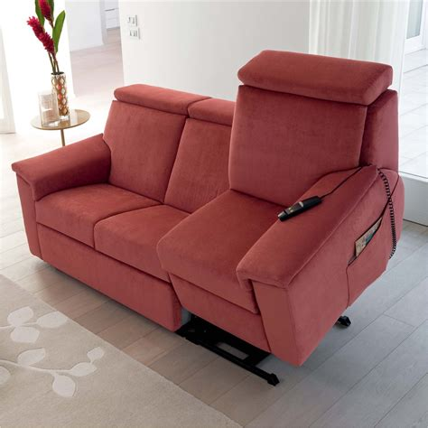 red sofa recliner vulcano recliner riser red sofa arredaclick