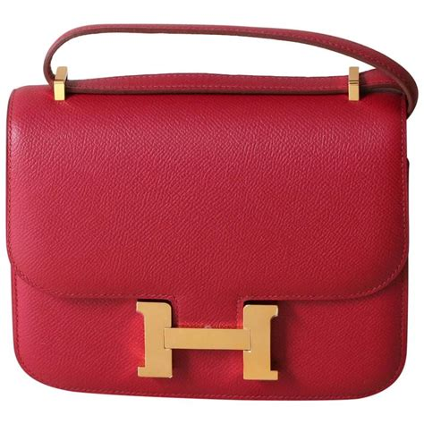 hermes constance mini epsom rubis 18 for sale at 1stdibs