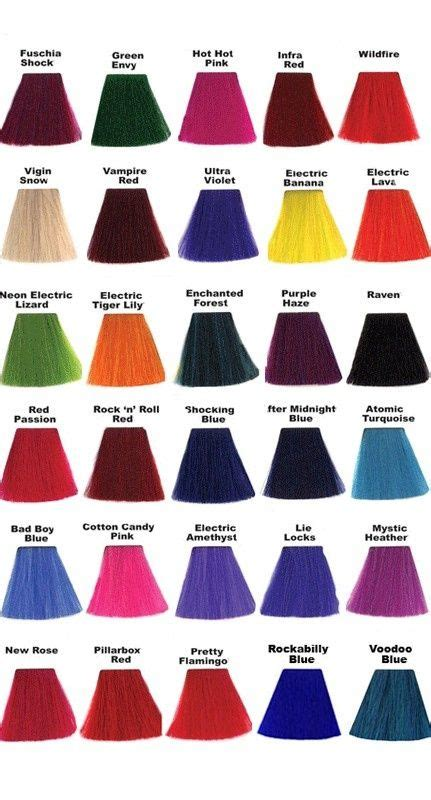 pretty color names 17 best ideas about manic panic color chart on