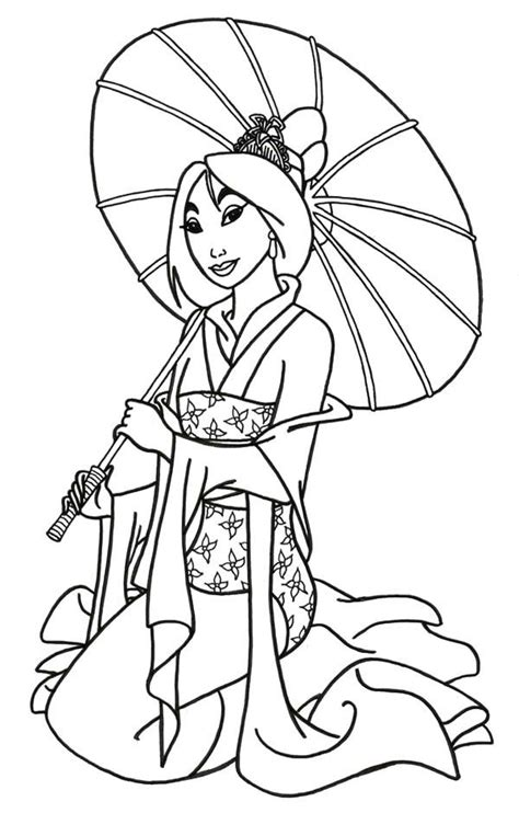 princess mulan coloring page pinterest the world s catalog of ideas