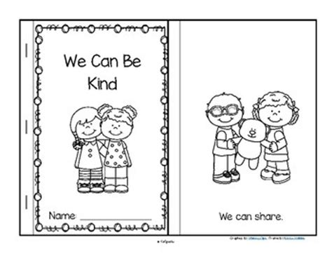 We Can Be Kind Reader Preschool Kindnessnation By Manners Coloring Pages 2
