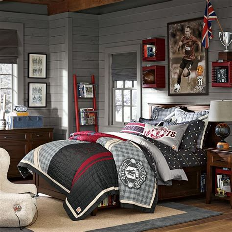 Bedroom Pictures Manchester Manchester United At Pottery Barn United In The States