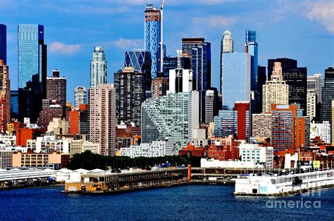 Mercedes New York City by New York City Skyline With Mercedes House Photograph By