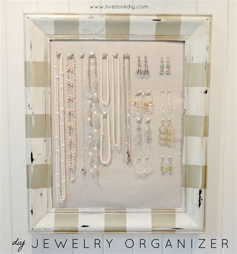 make jewelry organizer ideas of diy jewelry box that is easy to make