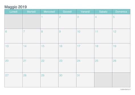 Calendario 2019 Maggio Calendario Maggio 2019 Da Stare Icalendario It