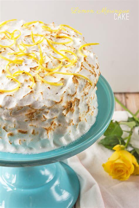 lemon meringue cake annies noms