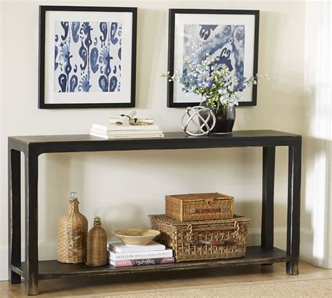 pottery barn sofa tables helena console table pottery barn