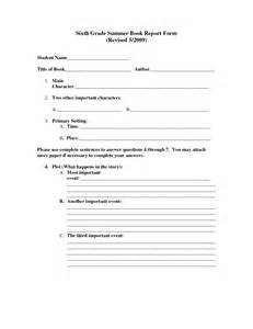 Book Report Template 5th Grade by Best Photos Of 7th Grade Book Report Template 7th Grade
