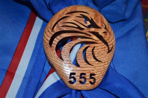 number of eagle scouts personalized with troop number eagle scout neckerchief slide