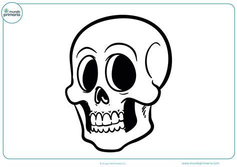 imagenes de calaveras faciles para dibujar dibujos de halloween para colorear mundo primaria