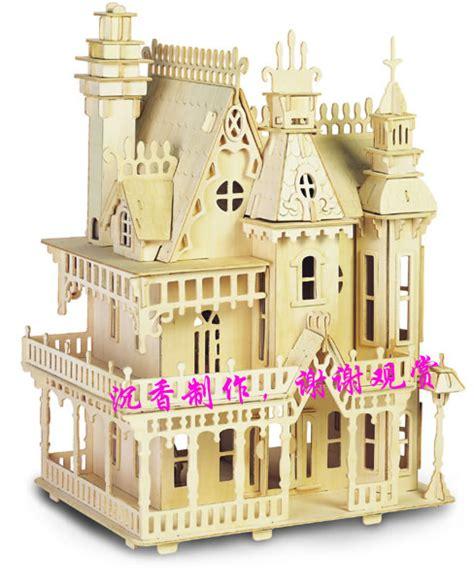 dollhouse 34 pieces 3d wooden puzzle dollhouse furniture puzzle 34pieces