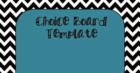 choice board template ham it up in science choice board template free product
