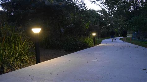 solar l post lights australia solar powered bollard lights 3 watt solar bollard light