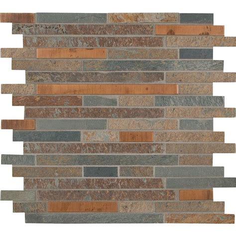 mosaic tile backsplash home depot ms international rustic creek interlocking 12 in x 12 in