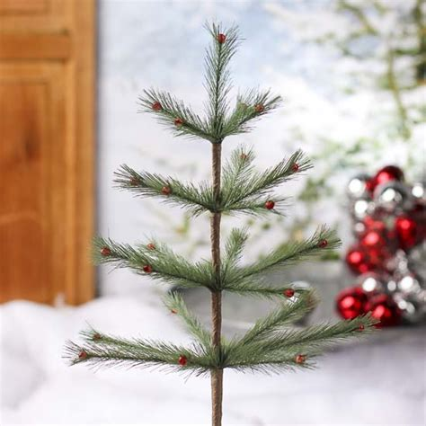 decorated faux feather pine tree holiday florals
