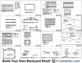 ham free 10 x12 shed plans 20x24 cabin