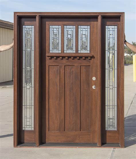 Exterior Doors With Sidelites Craftsman Entry Door With Venting Sidelites