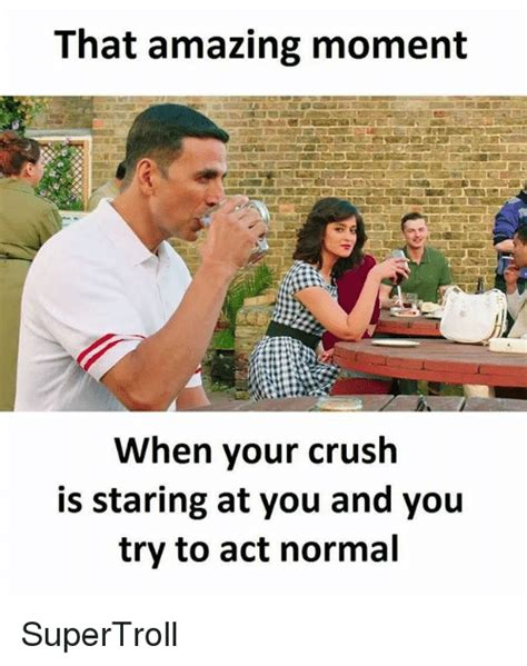 Ways To Behave With Your Crush When You Are In A by That Amazing Moment When Your Crush Is Staring At You And