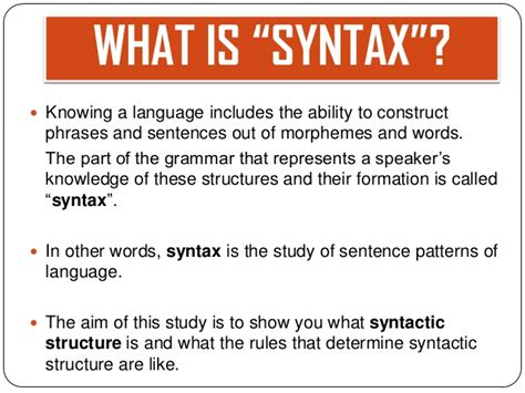 patterns in english syntax 10 syntax syntax phrases