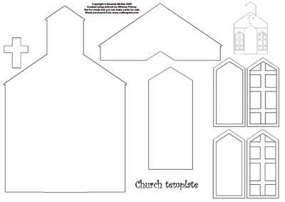 How To Make A Church Out Of Paper - best photos of church craft template church cut out