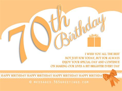 Seventy Birthday Quotes 70th Birthday Wishes And Messages 365greetings Com