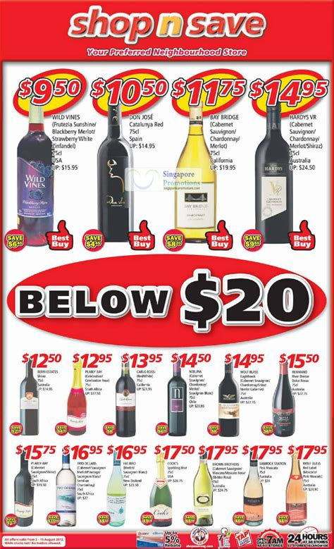 Shop N Save Gift Card Promotion - shop n save below 20 wine offers 2 15 aug 2012