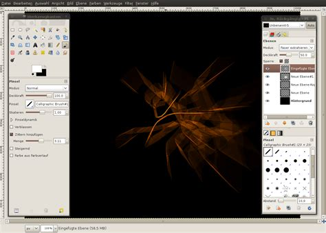 gimp tutorial abstract creating an abstract chaos explosion tutorials
