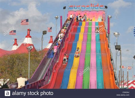 Miami Dade Fl Search Ethnic Slide At Miami Dade County Fair Miami Florida Stock Photo