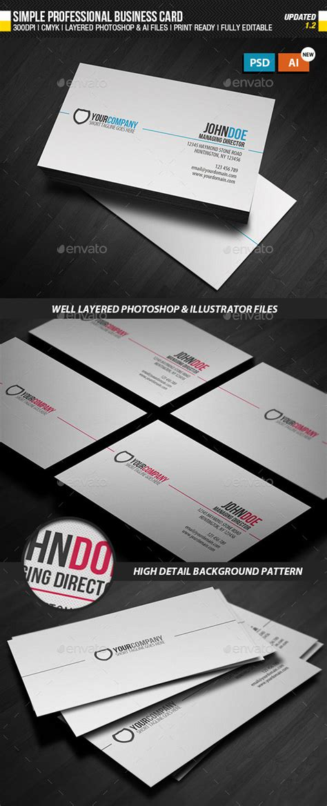 Plain Business Card Template Ai 15 premium business card templates in photoshop