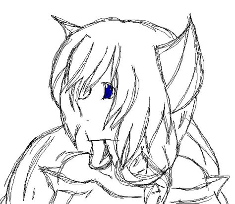 anime wolf girl coloring pages chibi anime wolf coloring pages