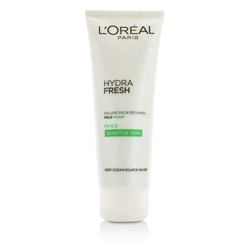 L Oreal Hydrafresh l oreal hydrafresh balancing refining mild foam ph 6 5