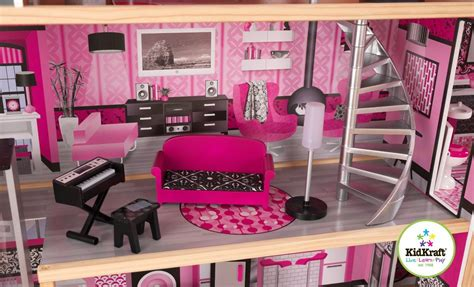 sparkle dolls house barbie size dollhouse doll house furniture kidkraft sparkle mansion play set eur