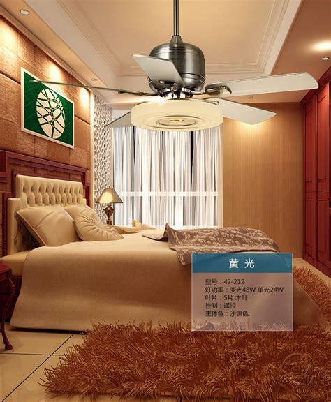 Bedroom Fan Light Aliexpress Buy Modern Living Room Bedroom Ceiling Fan Light Remote Mute Fan Light