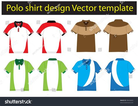 polo design template polo shirt design vector template stock vector 90493603