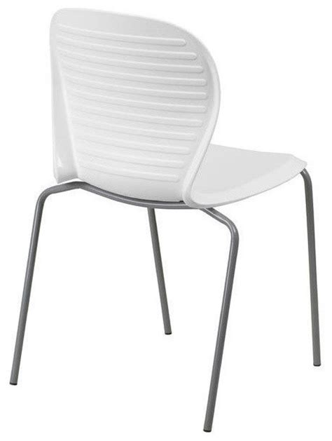 Modern Plastic Patio Chairs modern outdoor indoor stacking patio dining chair with white plastic seat outdoor dining