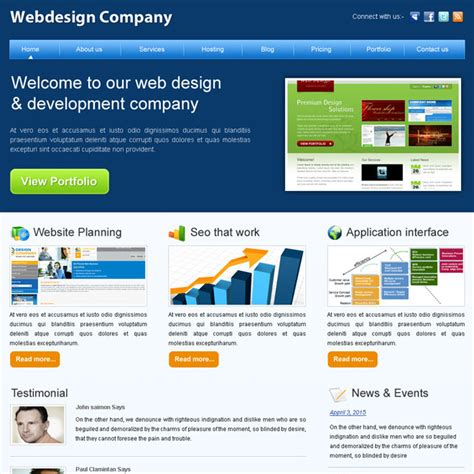 business web design homepage creative best website template psd for sale to create