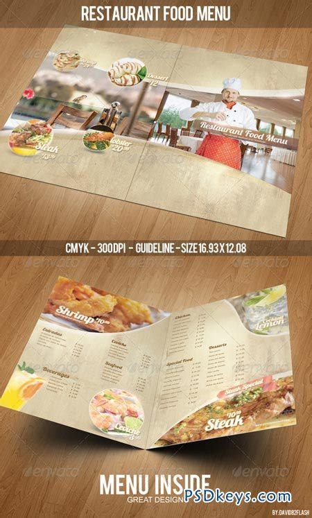 restaurant food menu template 4265318 187 free download